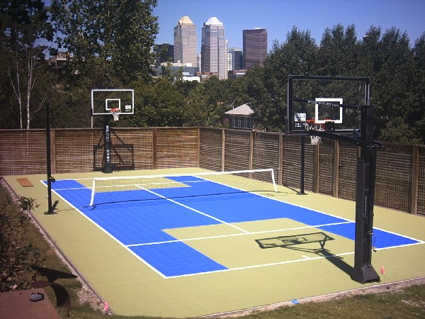 Backyard sport courts home design for Backyard sport court